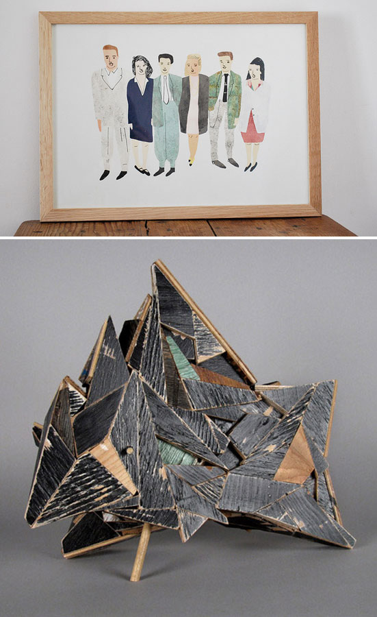 illustration by Yu Yasutake; sculpture by Aaron Moran