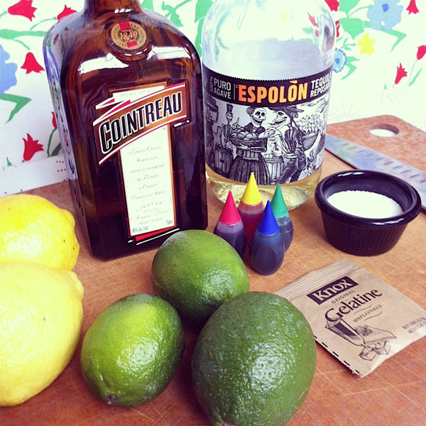ingredients for margarita jello shots