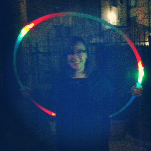 PGA (Please Generate Art): Sarah Ervin with a cosmic hula hoop