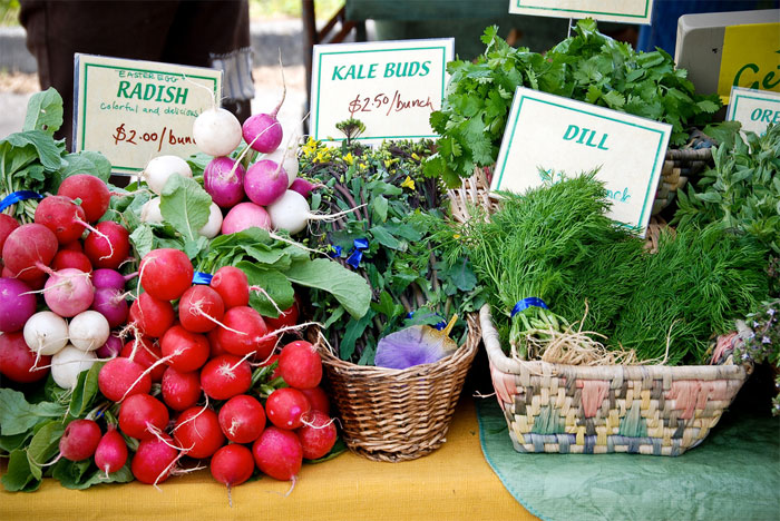 farmer's market bounty, photograph by Clebr Mori