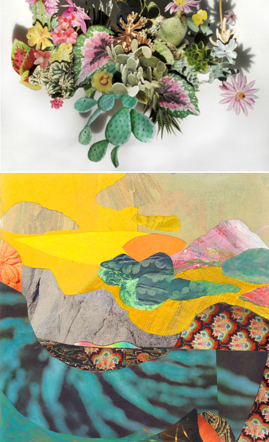 collages by Anne Ten Donkelaar and Brandi Strickland