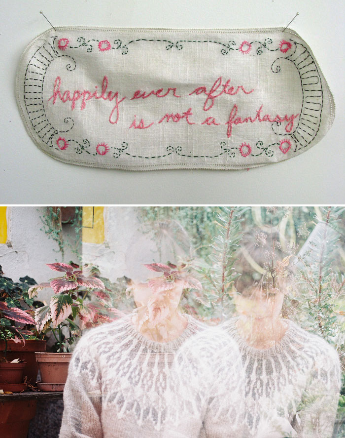 embroidery art by Joetta Maue; photograph by Joana Rosa Bragança