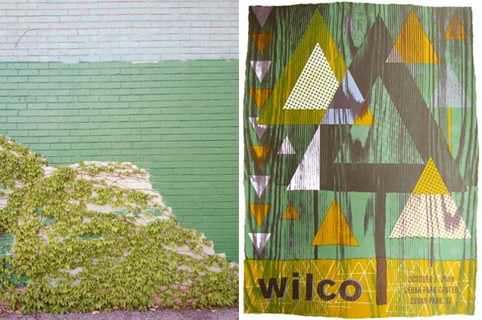 photograph by Matthew Feyld; Wilco poster by Nate Duval