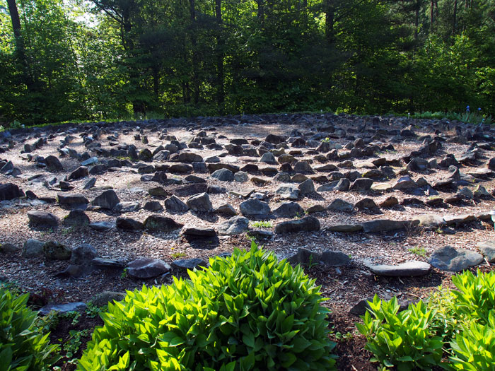 stone labyrinth at the Tennessee's Buckhorn Inn