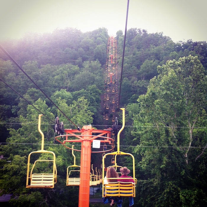 sky lift in Gatlinburg, Tennessee