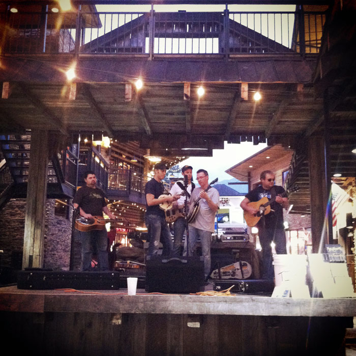Tennessee bluegrass band at the Ole Smoky Moonshine Holler