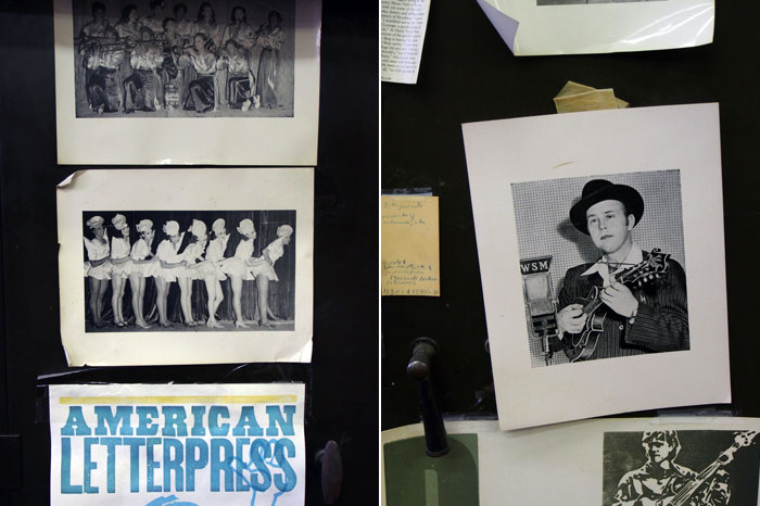 vintage photos and letterpress at the Hatch Show Print Shop