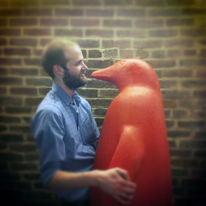 Brian West falls in love with a red penguin from Louisville's 21 C hotel
