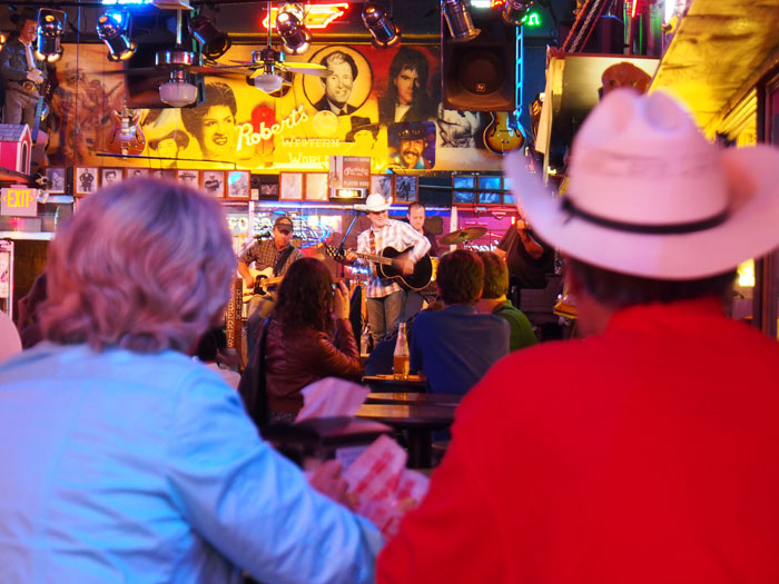honky tonk bar band at Robert's Western World in Nashville, TN