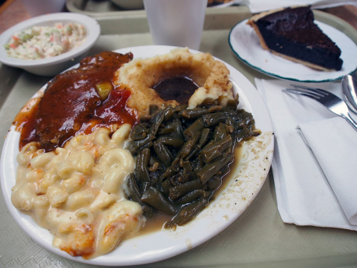 country food at Arnold's in Nashville, TN