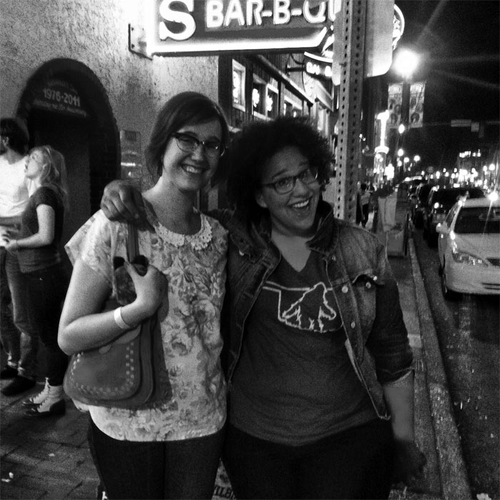 Sarah Ervin with Brittany Howard of the Alabama Shakes in Nashville, TN