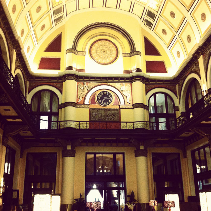 lobby of the Union Station hotel in Nashville, Tennessee