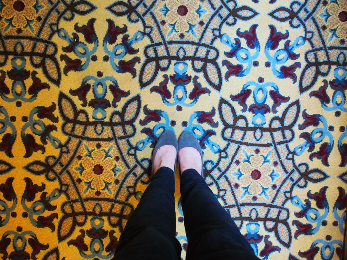 retro carpet in the Union Station hotel in Nashville, TN