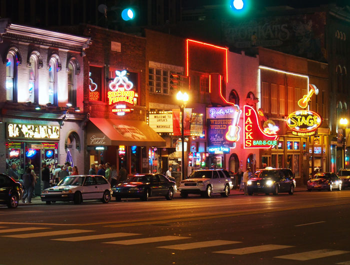neon cowboy bars in Nashville, TN