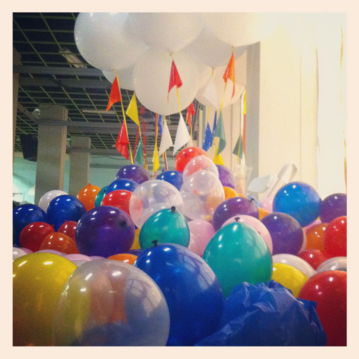 thousands of balloons at PGA (Please Generate Art)
