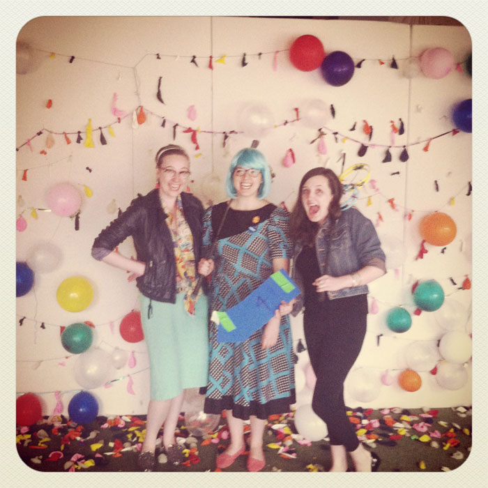 Sarah West Ervin, Laura A. Bock, and Caitlin O'Meara at PGA (Please Generate Art)
