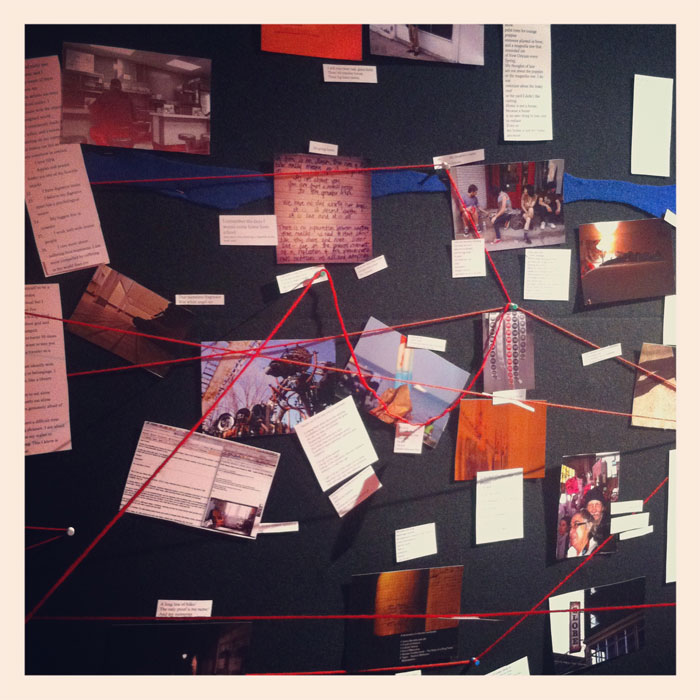 a wall of stories at PGA (Please Generate Art)