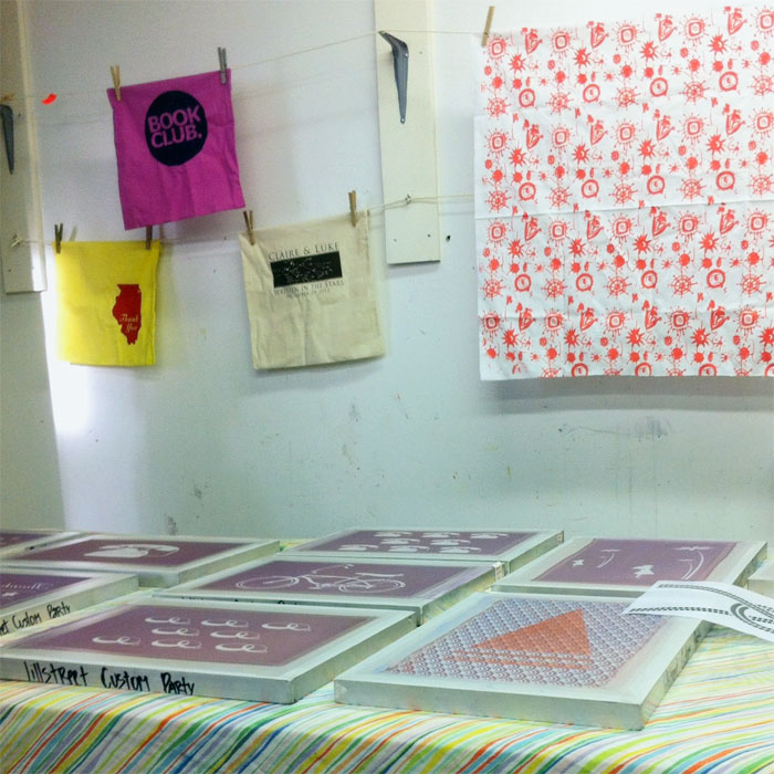 screenprinting on fabric at Lillstreet