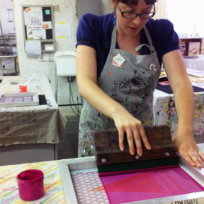 screenprinting demonstration at Lillstreet