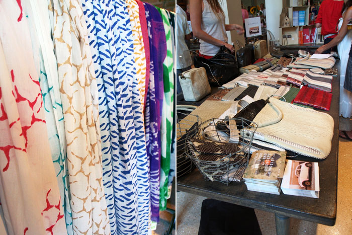 handmade scarves and other accessories at Dose Market