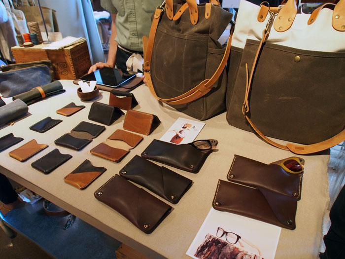 handmade leather goods at Dose Market