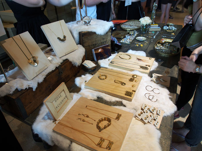 Laura Lombardi's handmade jewelry at Dose Market
