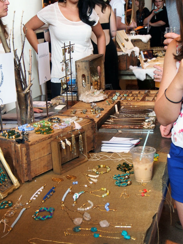 handmade jewelry at Dose Market