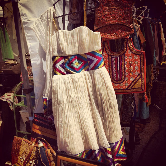 a vintage ethiopian dress at The Vintage Bazaar