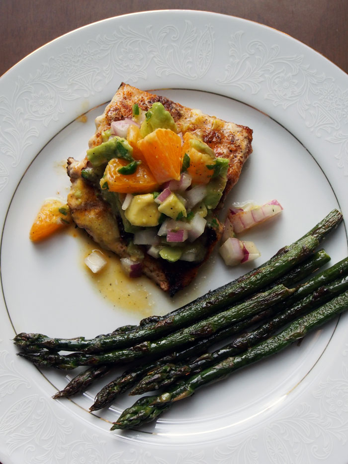 ... Fine Fixin's: Citrus Mahi Mahi with Avocado Salsa and Asparagus