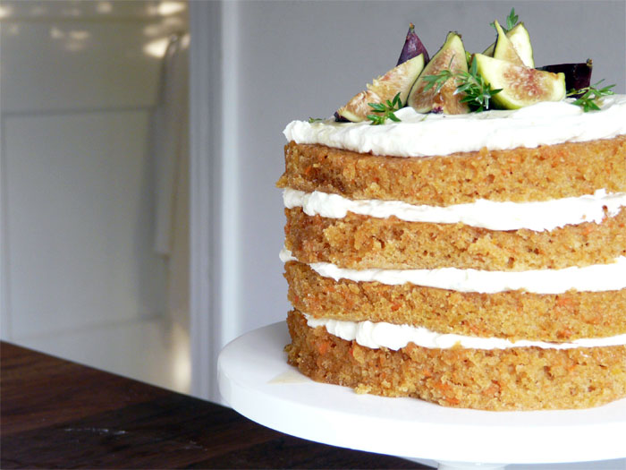 4-Layer Carrot Cake with Honey Ginger Figs