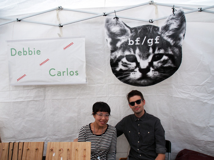 Debbie Carlos and bf/gf at Renegade Craft Fair Chicago 2012