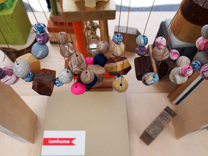 handmade bead & wood necklaces from I Am Home