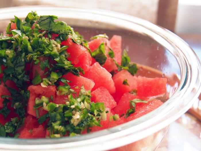 Tomato & Watermelon Salsa
