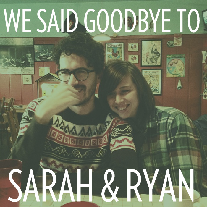 Goodbye to Sarah Newby and Ryan Glenn