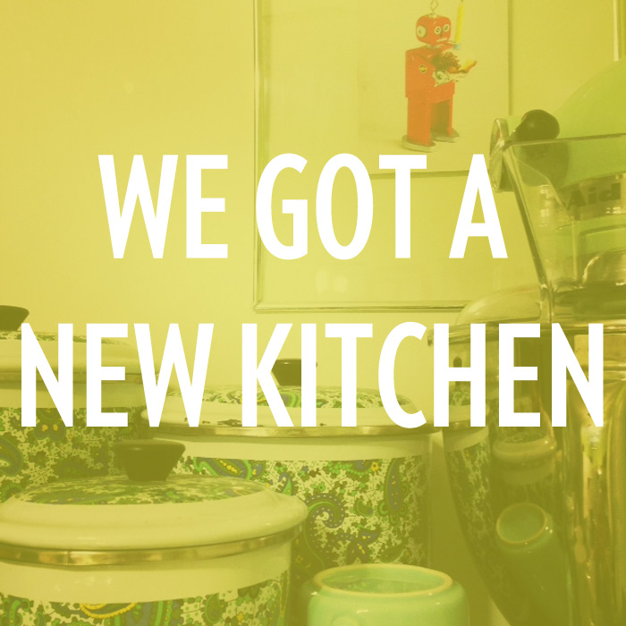 We got a new kitchen
