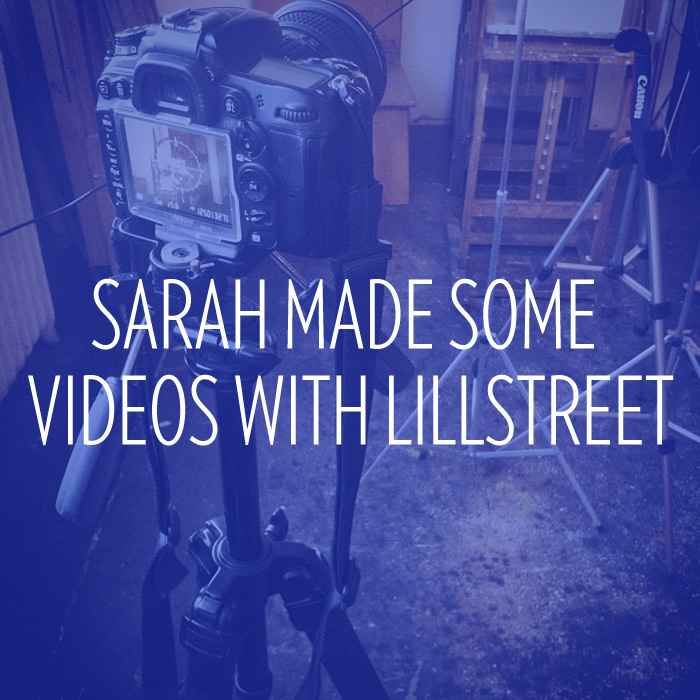 Sarah West Ervin made some videos for Lillstreet Art Center