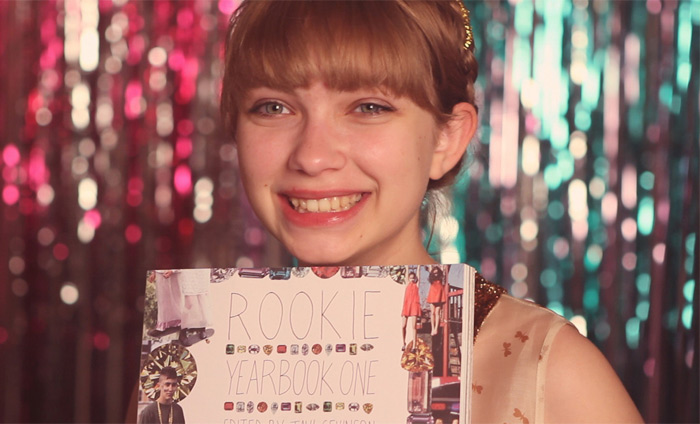 Tavi Gevinson with Rookie Yearbook One