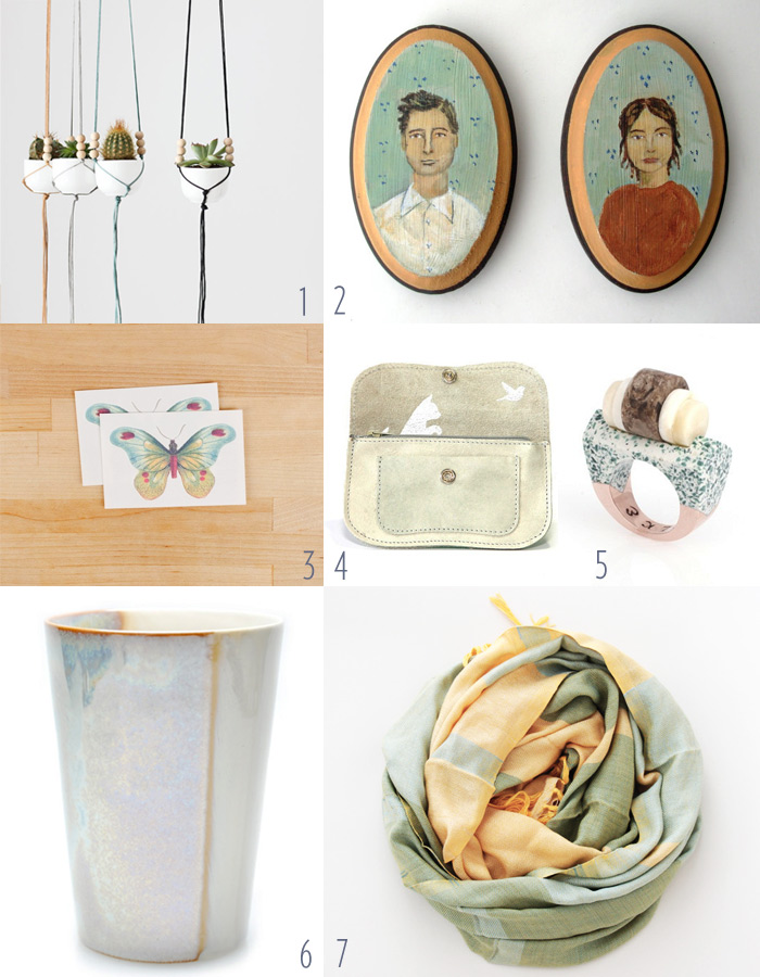 handmade art, accessories, and housewares inspired by Spring