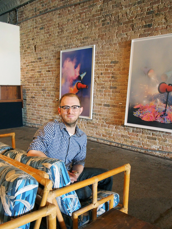 Milwaukee Avenue Arts Festival: Evan Baden at a South Logan Arts Coalition Popup Gallery