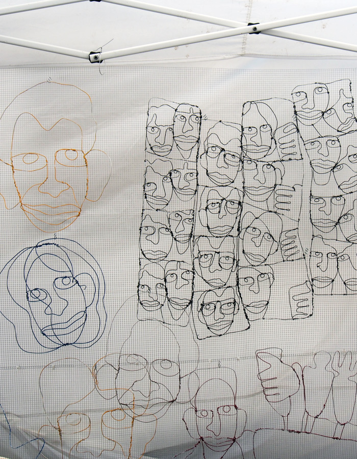 Milwaukee Avenue Arts Festival: Rich Salamander's wire portraits