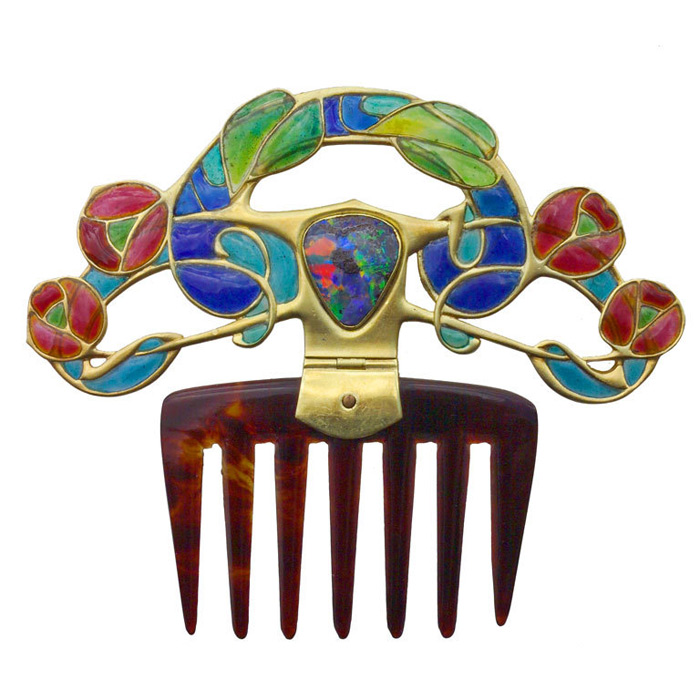 Arts and Crafts hair comb by Archibald Knox