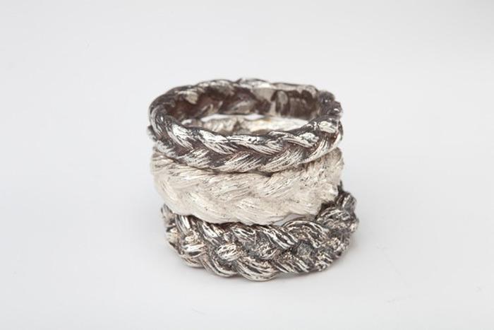 handmade rings by Polly van der Glas