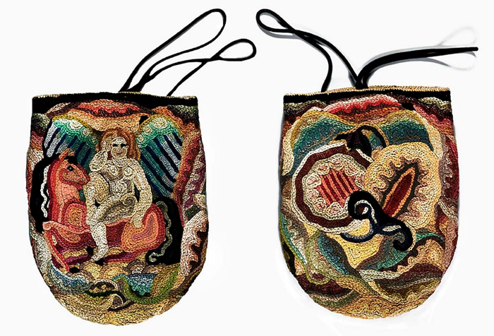 embroidered handbag by Marguerite Zorach