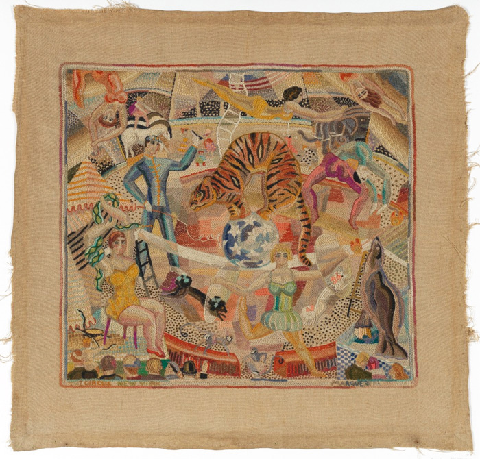 The Circus, embroidery by Marguerite Zorach