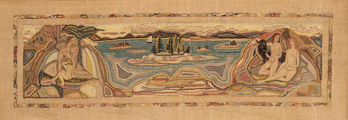 Maine Islands, embroidery by Marguerite Zorach