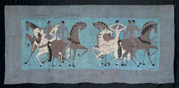 batik scarf by Marguerite Zorach