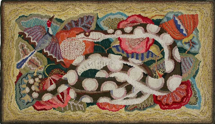 embroidered rug by Marguerite Zorach