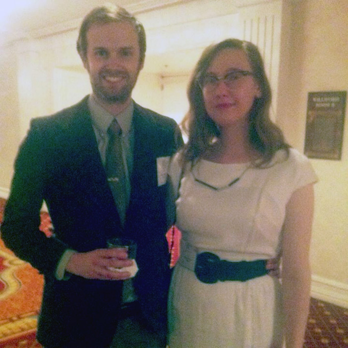 Brian West and Sarah West Ervin all dressed up in June 2013