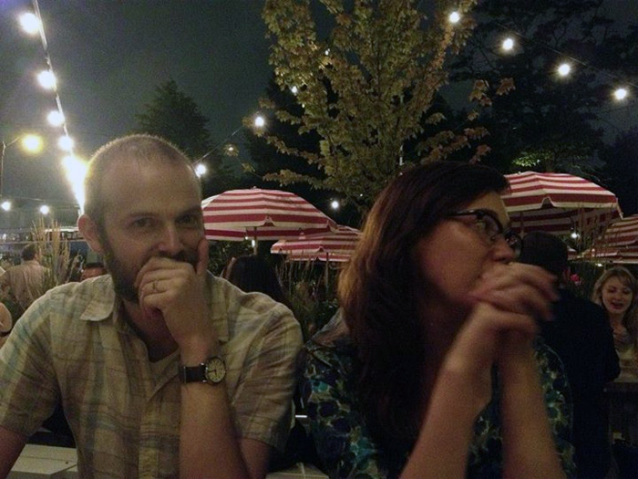 Brian West and Sarah West Ervin in July 2013