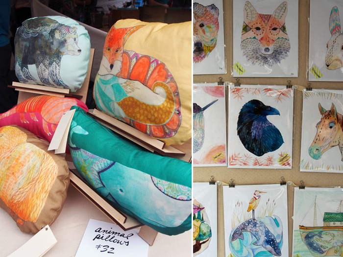 Renegade Craft Fair Chicago 2013: Adrienne Vita pillows and prints